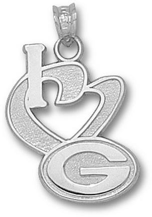 Green Bay Packers NFL Sterling Silver Charm 3/4