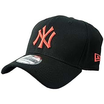 New Era Black Base New York Yankees Cap - Black / Orange