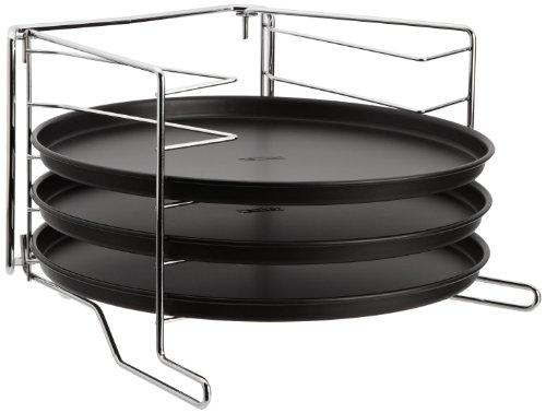 Zenker 7515 Set 4 cornici per pizza con 3 teglie Teflon diametro ca. 29cm