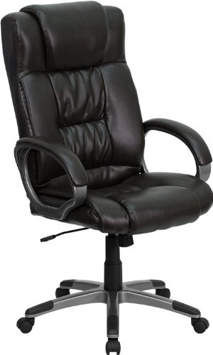 9002h brn gg high back espresso brown leather executive office chair