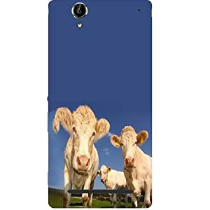 Casotec Cows Design Hard Back Case Cover for Sony Xperia T2 Ultra