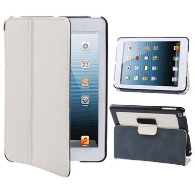 Tablette Cases & Taschen, Zwei-Farben-Leinwand-Art-Leder-Kasten mit Halter für iPad mini 1/2/3 ( SKU : S-MIPAD-1460K )