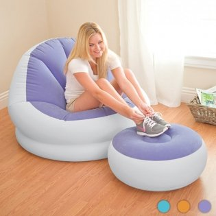 inflatable-deluxe-lounge-lounger-1-person-chair-with-ottoman-foot-stool-rest-pouffe-seat-relaxer-sin