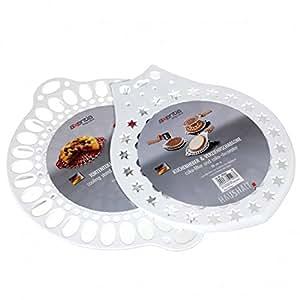 AXENTIA - Kuchenheber und Verzierschablone 28 cm Kunststoff