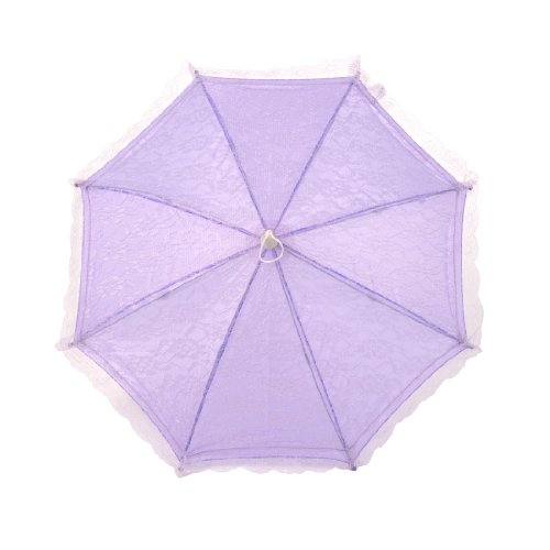 Lace Parasol for KID Wedding Flower Girl Lace Umbrella in Lilac