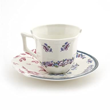 Leonia Fine Bone China Hybid Cup and Saucer by Seletti