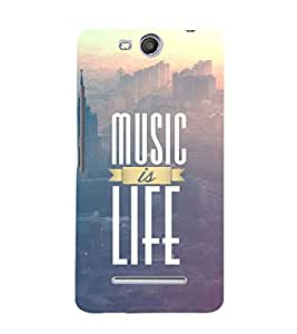 EPICCASE Music is life Mobile Back Case Cover For Micromax Canvas Juice 3 Q392 (Designer Case)