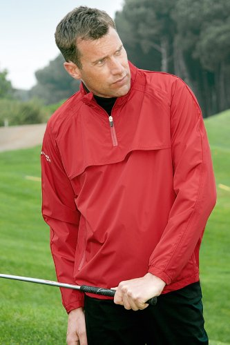 Glenmuir Mens Rain Bloc Pro Waterproof Lightweight Golf Jacket In 2 Colours - XL - Garnet