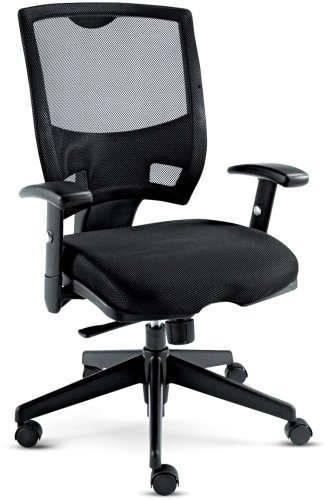 Alera EP42ME10B Epoch Series Mesh Mid-Back Swivel/Tilt Multifunctional Chair, Black