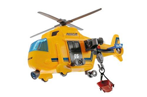 Dickie Spielzeug 203563573 - Action Series Rescue Copter, elicottero con luci e suoni