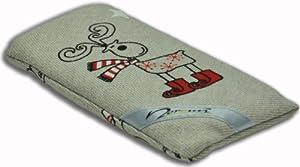 Norrun Handytasche / Handyhülle # Modell Elwin # ersetzt die Handy-Tasche von Hersteller / Modell HTC One mini # maßgeschneidert # mit einseitig eingenähtem Strahlenschutz gegen Elektro-Smog # Mikrofasereinlage # Made in Germany