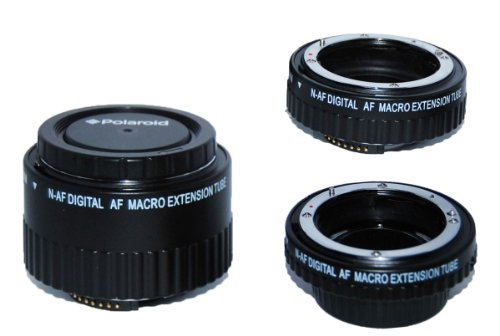 Polaroid Auto Focus DG Macro Extension Tube Set (12mm, 20mm, 36mm) For Nikon Digital SLR Cameras