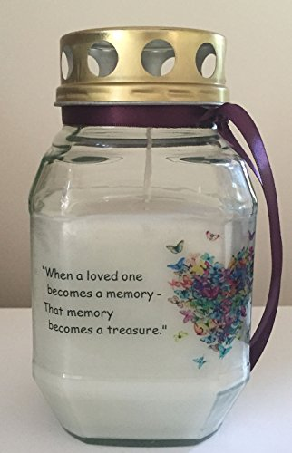 Memorial Candle - When a Loved One Becomes a Memory - Remembrance Candle - Graveside