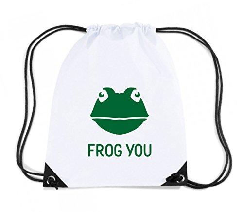 T-Shirtshock - Zaino Zainetto Budget Gymsac TM0490 frog you, Taglia Capacita 11 litri