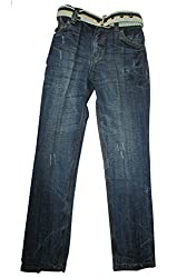 Topchee Kids' Jeans (JNK-05_Blue_14 to 15 Years)