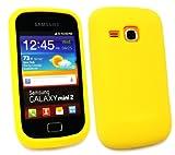 Samsung S6500 Emartbuy ® Galaxy Mini 2 De Silicio Cubierta De Piel / Caja Amarilla