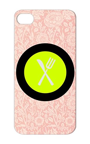 Tpu Waiter Symbols Shapes Serve Place Setting Restaurant Table Setting Bbq Grill Set Eat Dishes Dinning Cook Knife Cooking Apron Food Fork Plate Cookout Chef Yellow Plate Case For Iphone 5/5S