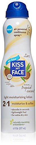 Kiss My Face Moisturizing Spray Lotion, Tropical Coconut Oil Moisturizer, 6 oz (Moisturizing Body Spray compare prices)