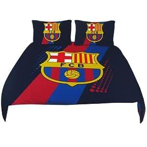 Parure de lit double housse de couette FC Barcelone ? Manchester ? Real Madrid - FC Barcelone
