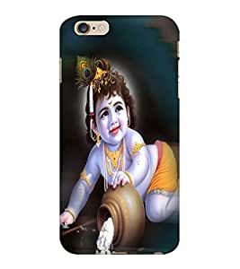 ColourCraft Lord Krishna Design Back Case Cover for APPLE IPHONE 6S PLUS