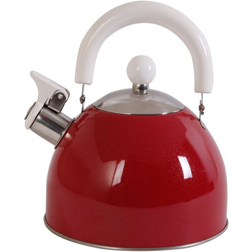 Mr. Coffee Colorcraze 1.5 Qt Tea Kettle With White Handle (Red)
