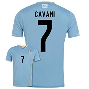 2014-15 Uruguay World Cup Home Shirt (Cavani 7)