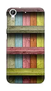 Amez designer printed 3d premium high quality back case cover for HTC Desire 626 G (Colored wood planks)