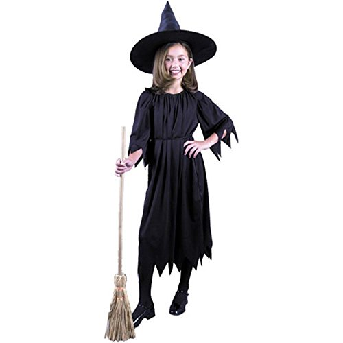 Child's Black Witch Costume (Size:X-large 12-14)