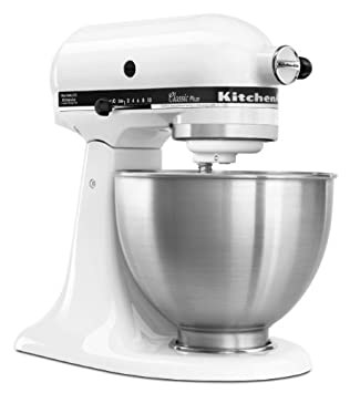 KitchenAid KSM75/WH Classic Plus Tilt-Head Stand Mixer White.
