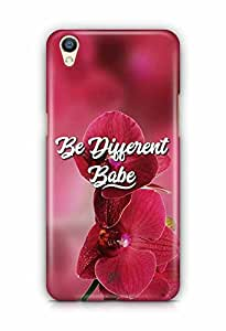 YuBingo Be Different Babe Designer Mobile Case Back Cover for Oppo F1 Plus
