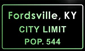 fordsville city t82503-g Fordsville city, KY City Limit Pop 544 Indoor Neon sign