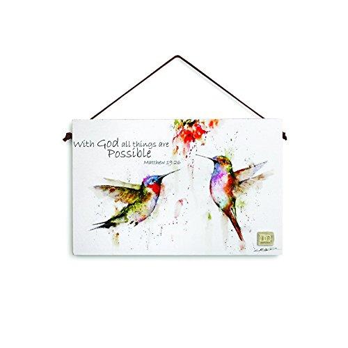 Hummingbird Inspirational Wall Plaque