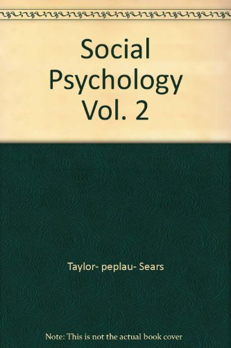Social Psychology Vol. 2