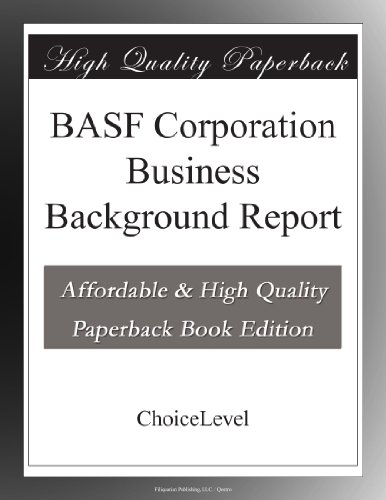basf-corporation-business-background-report