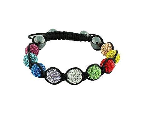 Dream Jewelry Bali Beads Swarovski Austrian Crystals Pink White & Jewelry Bracelet