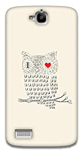 The Racoon Lean I Love you Owl hard plastic printed back case / cover for Huawei Honor Holly