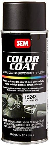 SEM Products 15243 Satin Black Color Coat - 12 oz. (Sem Color Coat Satin Black 15243 compare prices)