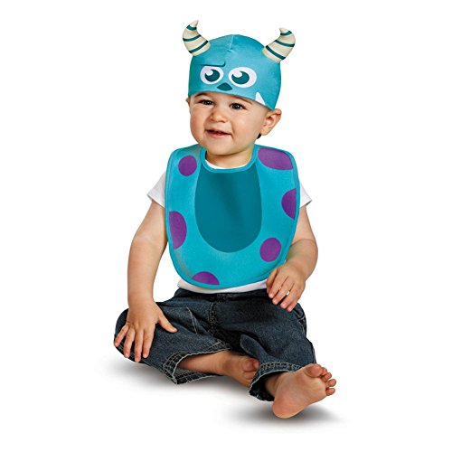 Disney Pixar Monster Inc Sulley Baby Bib & Hat