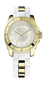 Tommy Hilfiger K2 Women's Quartz Watch with White Dial Analogue Display and White Stainless Steel Bracelet 1781309