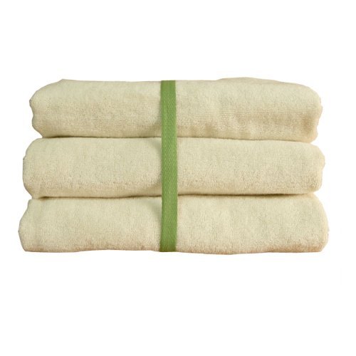 "100% Organic Cotton Infant Swaddle Bath Terry Bath Towels 33.4"" X 33.4"" _ 3Set front-901844"