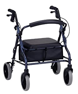 NOVA Medical Products  4218bl Zoom 18 Rolling Walker, Blue