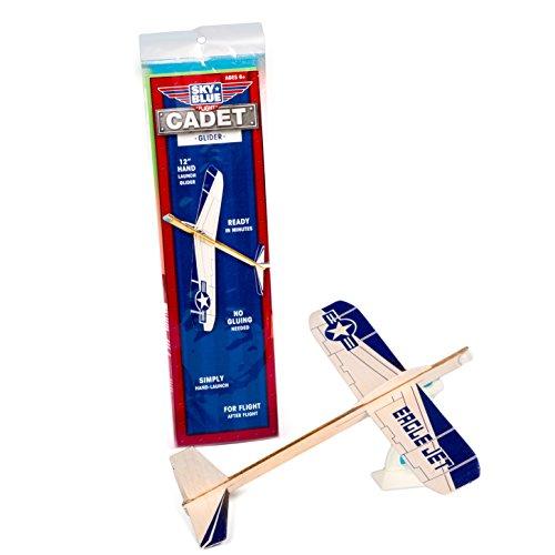 "Sky Blue Flight Balsa Eagle Jet Hand Launched Glider Model Kit, 12"""