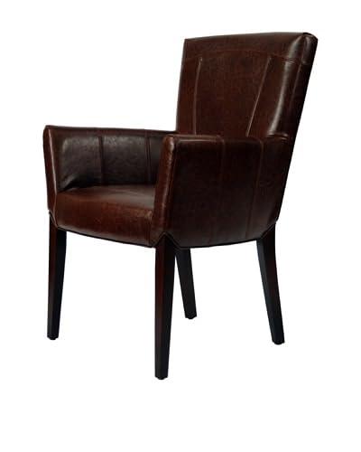 Safavieh Ken Arm Chair, Brown Leather