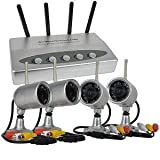 LYD W802AJ4 2.4Ghz (4)Wireless Infrared Color Camera Set with Quad View USB DVR feature.