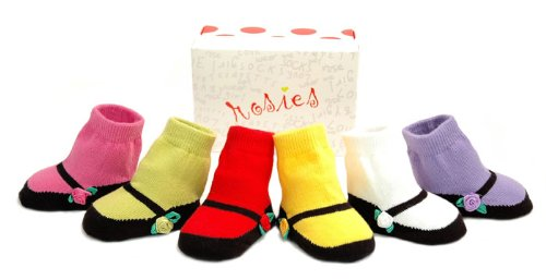 New! Trumpette Rosies baby girl funky socks gift 0-12m