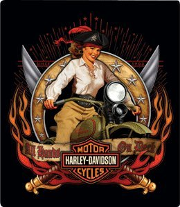 Harley-Davidson® Pirate Babe Embossed Tin Sign