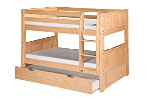 Amazon Com Camaflexi Panel Style Solid Wood Low Bunk Bed