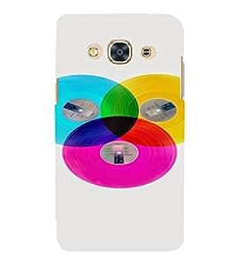 PrintVisa Colorful Records Design 3D Hard Polycarbonate Designer Back Case Cover for SAMSUNG GALAXY J3 PRO