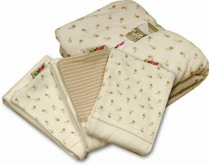 Minene Innovative Sheet and Dribble Pad Set (Cream)