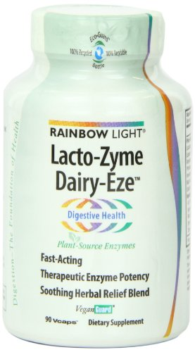 Rainbow Light Lacto-Zyme Dairy Eze Plant Source Enzyme Tablets, 90-Count Bottles (Pack Of 2)